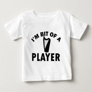 ハープのデザイン ベビーTシャツ