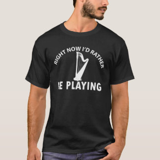 ハープのデザイン Tシャツ