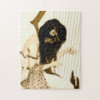 ハープを持つ女の子 ジグソーパズル