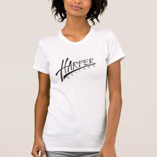 ハープ奏者のギター-軽い女性 Tシャツ
