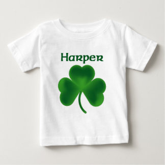 ハープ奏者のシャムロック ベビーTシャツ