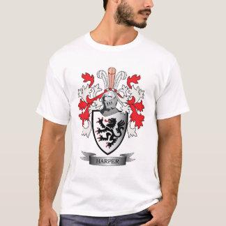 ハープ奏者の家紋の紋章付き外衣 Tシャツ