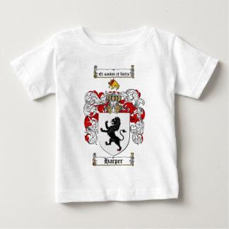 ハープ奏者の家紋-ハープ奏者の紋章付き外衣 ベビーTシャツ