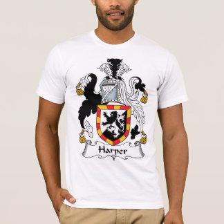 ハープ奏者の家紋 Tシャツ