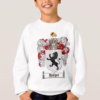 ハープ奏者の紋章付き外衣-ハープ奏者の家紋 スウェットシャツ