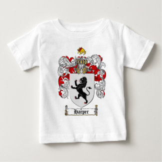 ハープ奏者の紋章付き外衣-ハープ奏者の家紋 ベビーTシャツ