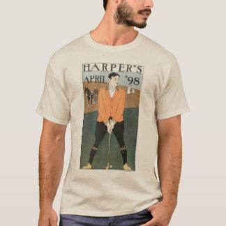 ハープ奏者の「長袖98のゴルフ Tシャツ