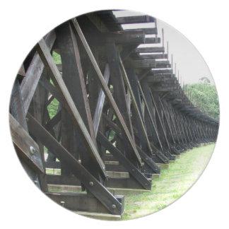 ハープ奏者フェリーWVによって上げられる鉄道プレート プレート