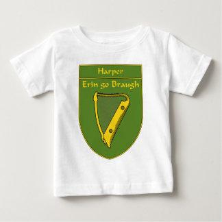 ハープ奏者1798の旗の盾 ベビーTシャツ