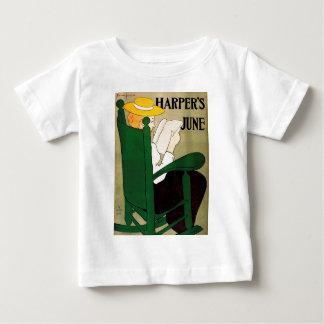 ハープ奏者6月緑のROCKER.jpg ベビーTシャツ