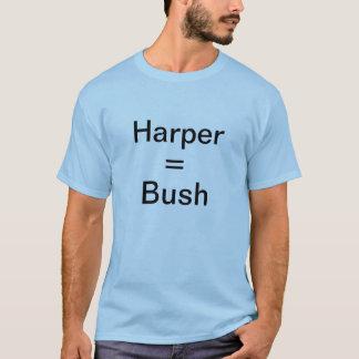 ハープ奏者=ブッシュ Tシャツ