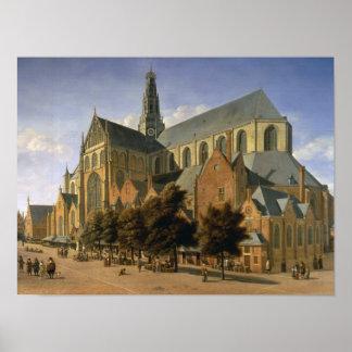 ハールレムのSt. Bavo、1666年の教会 ポスター