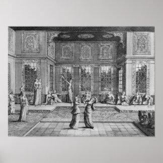 ハーレムで踊っている女性 ポスター