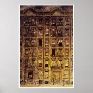 ハーレムの保有物ブロックの絵画 ポスター