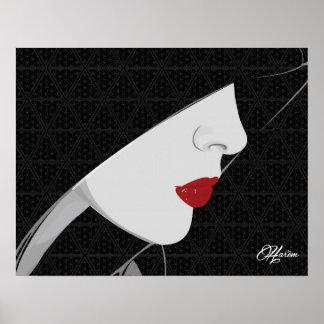 ハーレムの女性、パターン及びロゴの壁ポスタープリント ポスター