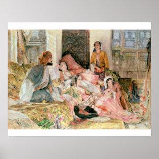 ハーレム、c.1850 ポスター