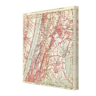 ハーレム、YonkersのPelham領域、ニューヨーク キャンバスプリント