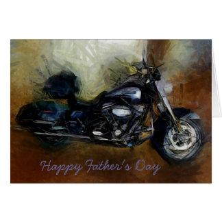 ハーレーのオートバイが付いている父の日カード カード