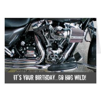 ハーレーのオートバイのバースデー・カード カード