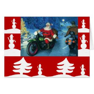 ハーレーのクリスマスカードのサンタ カード