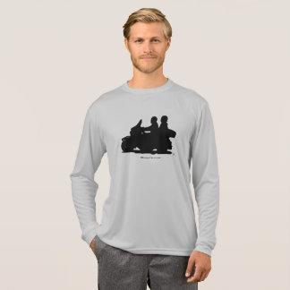 ハーレーのシルエットに乗るカップル Tシャツ