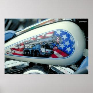 ハーレーの燃料タンク- S.D. ポスター