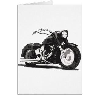 ハーレーの黒いオートバイ カード