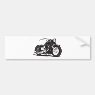 ハーレーの黒いオートバイ バンパーステッカー