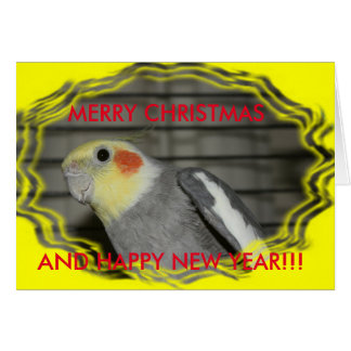ハーレーのCockatielのクリスマスカード カード