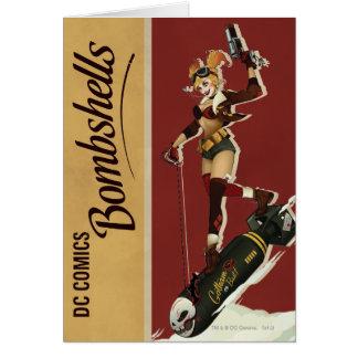 ハーレークウィンの爆弾のピンナップ カード
