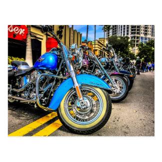 ハーレーデイヴィッドソンのオートバイ ポストカード