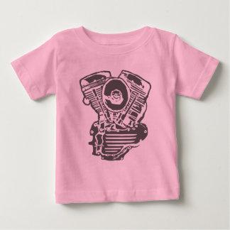 ハーレーPanheadエンジンのスケッチ ベビーTシャツ