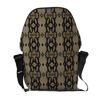 ハ虫類の皮の革製バッグ メッセンジャーバッグ