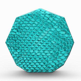 ハ虫類の青緑 表彰盾