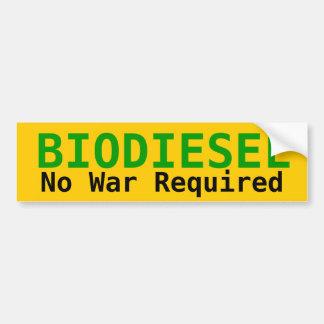 バイオディーゼル必要な戦争無し バンパーステッカー