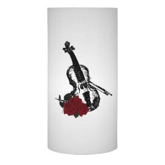 バイオリンおよびバラの銀 LEDキャンドル
