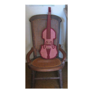 バイオリンおよびロッキングチェア カード