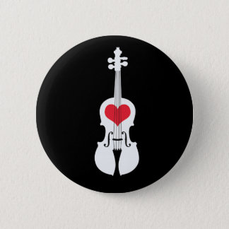 バイオリンのギフトのボタンクラシックのデザイン 5.7CM 丸型バッジ
