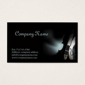 バイオリンのプレーヤーまたはミュージシャンの名刺のテンプレート 名刺