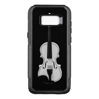 バイオリンのポートレート-白黒写真 オッターボックスコミューターSamsung GALAXY S8+ ケース
