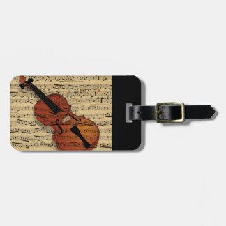 バイオリンのヴィンテージ音楽 ラゲッジタグ