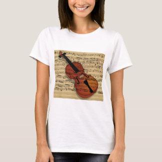 バイオリンのヴィンテージ音楽 Tシャツ