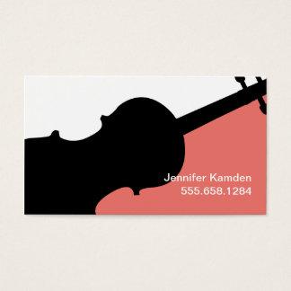 バイオリンの先生の名刺 名刺