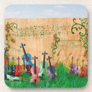 バイオリンの庭 コースター