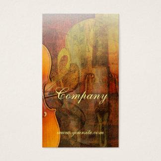 バイオリンの抽象芸術3つの暖かい調子 名刺