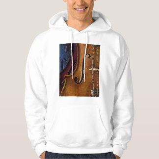 バイオリンの構成のフード付きスウェットシャツ パーカ