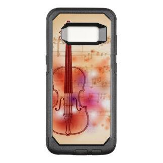 バイオリンの水彩画の背景で引くこと オッターボックスコミューターSamsung GALAXY S8 ケース