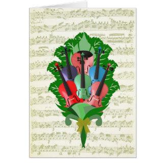 バイオリンの花束 カード