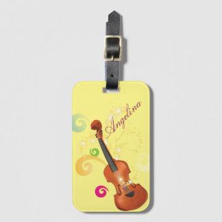 バイオリンの荷物のラベル、バッグのラベル ラゲッジタグ