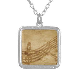 バイオリンの鍵 シルバープレートネックレス